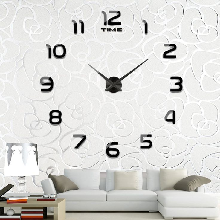Wall Decor: Vintage Large Decorative Wall Clock Home Decor Fashion Silent 3d Wall Clock Modern Design Antique Wall Decor from Simple Style With Large Decorative Wall Clocks