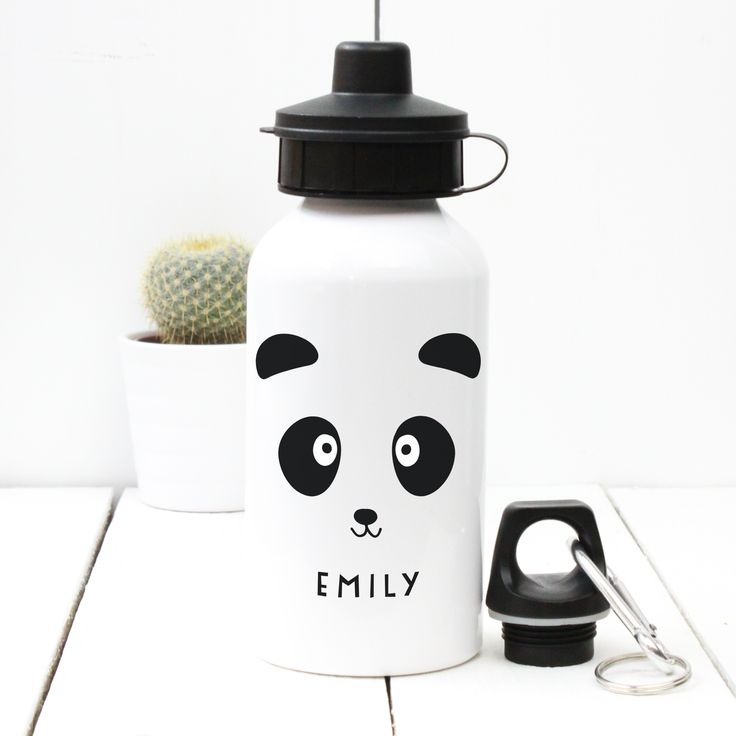 A Piece Of - Personalised 'Panda' Water bottle, £13.50 sport, gym, birthday, child, dad, mum, fathers' day, mothers' day, christening, baby shower, bottle, water, drink, present, party, gift, panda (http://www.apieceof.co.uk/personalised-panda-water-bottle/)