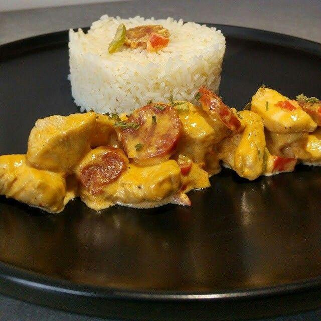 poulet poivrons chorizo