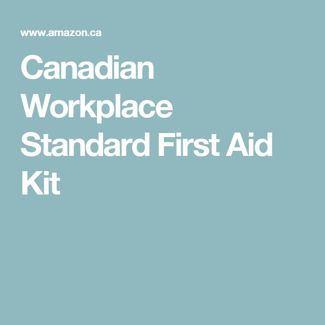 Canadian Workplace Standard First Aid Kit