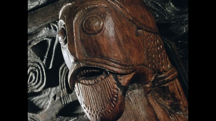 Just have a look at this carved head. Look at the beard and the hair. The Vikings were really occupied by looks.