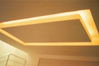 Gesso & Luz: Teto Flutuante - Sala de Jantar