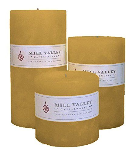 Mill Valley Candleworks Sandalwood Scented Candle Gift Set, 4-Inch, Set of 3