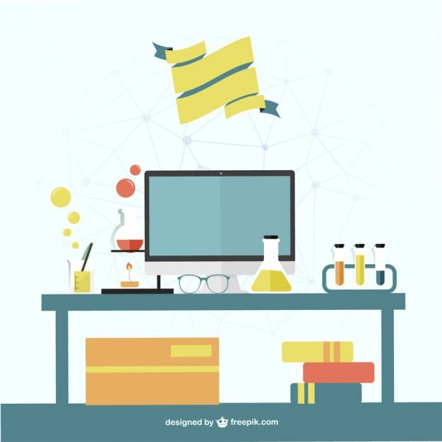 Science Office Template Free Vector