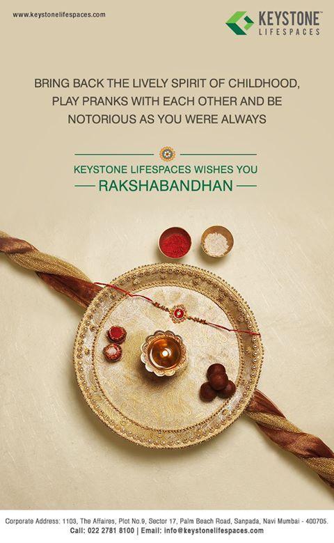 Keystone Lifespaces wishes you all a very Happy Raksha Bandhan #RakshaBandhan2017 #Festival #Celebration #Occasion
