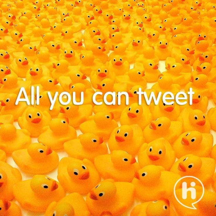 all you can ''tweet'', lekker ingehaakt op de 'all you can eat' reclame van Hi!.   Fighter: Samjanssen98  Brand: HI