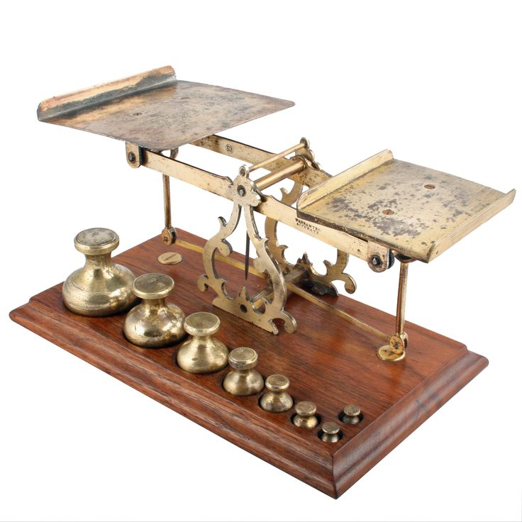 Victorian Brass Postal Scales