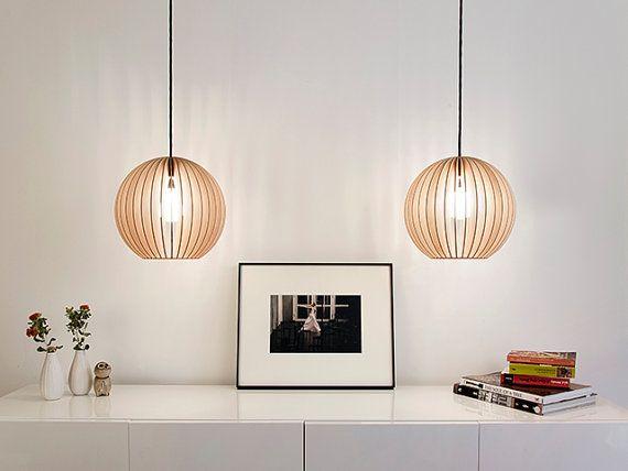 aion IUMI DESIGN wooden ceiling lamp par IUMIDESIGN sur Etsy