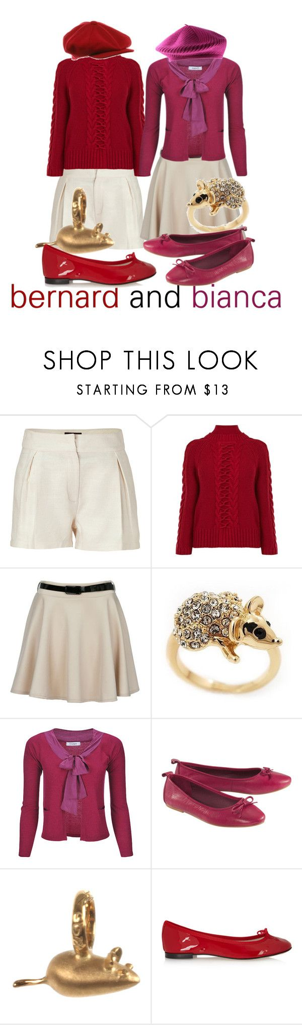 """""""Bernard and Bianca"""" by princesschandler ❤ liked on Polyvore featuring Saloni, Karen Millen, Avalaya, Crumpet, Inuovo, Antonio Bernardo, Repetto and the rescuers"""