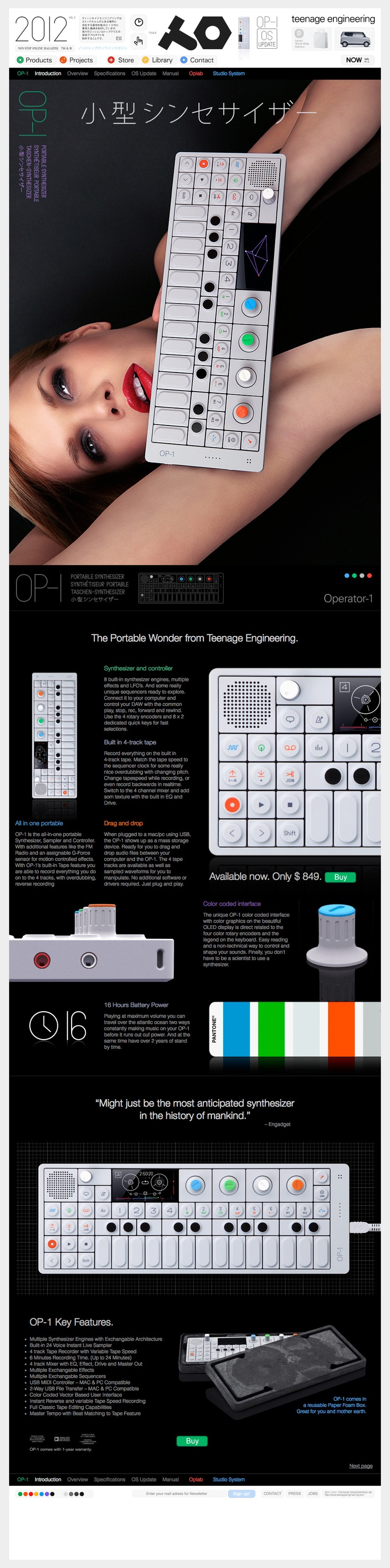 OP-1 – nice but a bit pricey for basically a toy synth