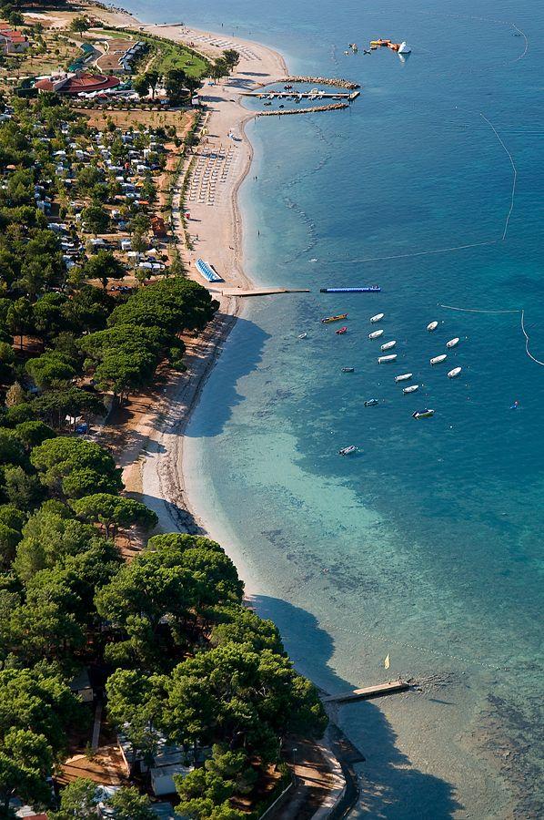 Fazana - Valbandon beach, spiaggia, strand / Istria - Croatia