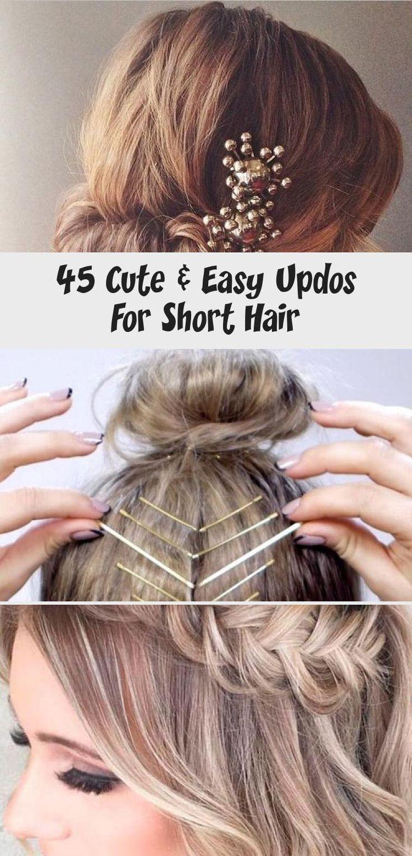45 Cute & Easy Updos For Short Hair