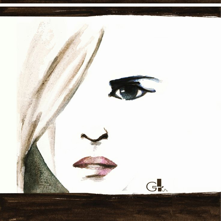 #watercolor #waterbrush #drawing #art #painting #ink #illustration #woman #white #black #design #artwork  #sketch #fashion @G a i a T e l e s c a  | GAIA TELESCA |