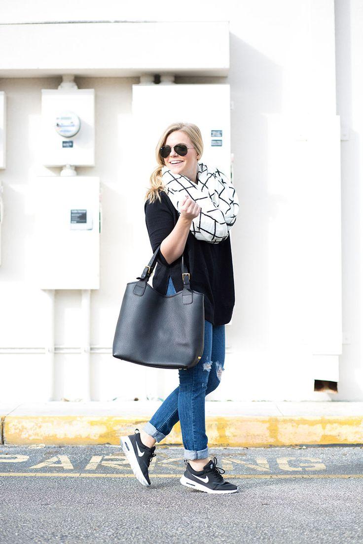 GiGi New York | Living In Color Print Fashion Blog | Black Olivia Shopper Tote