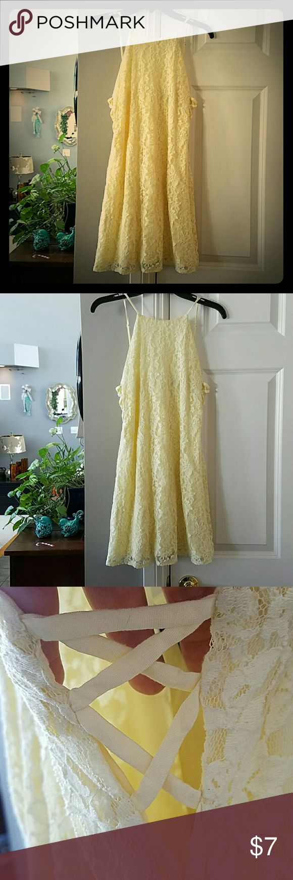 Forever 21 Rich Deep Creamy lined lace open back Worn Once! Perfect condition, Forever 21 Delightful Dreamy Cream Color Summer, Springfield, even Christmas with an sweater or jacket! Open back with corset sides,will make you NOTICED IN A GOOD WAY!  #GREATDEAL  #SPARKLENSHINE  #UWILLLOOKMARV  #ONLYUWILLHAVE Forever 21 Dresses Backless