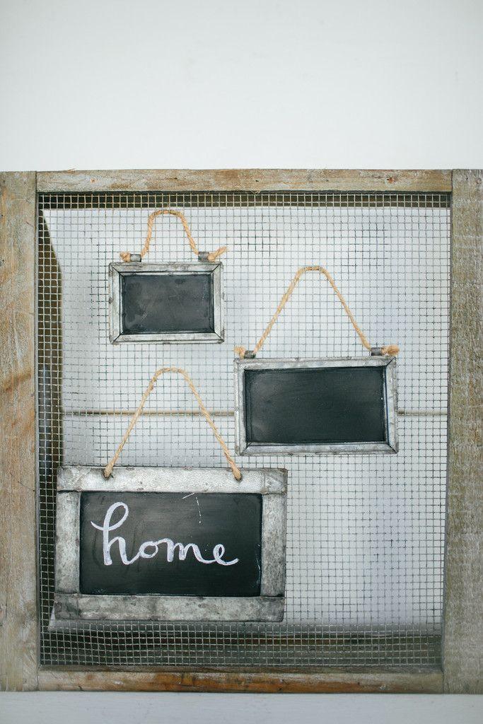 Small Tin Framed Blackboard