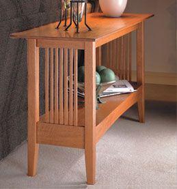 Craftsman Sofa Table Woodworking Plan