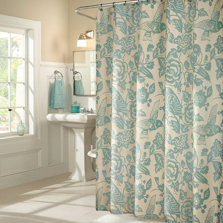 """Add a little """"tropical"""" to your coastal decor! https://www.seahorsemansion.com/collections/bathroom-accessories/products/paradise-shower-curtain"""