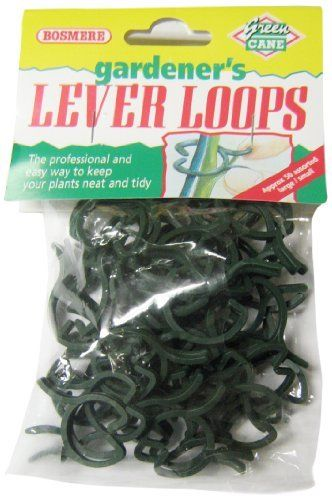 Bosmere H201 Lever Loops Plant Grippers, 100-Pack by Bosmere. $9.85. Made from uv treated plastic. Especially useful for holding plant stems to stakes. Easy to use to keep your plants neat and tidy. Package of 100. Supplied by Bosmere who have been distributing quality garden tools and accessories since 1979. Lever loops are very easy to use and are a very convenient way keep your plants neat and tidy. Simple to use - just squeeze the 'handles' together to open before...