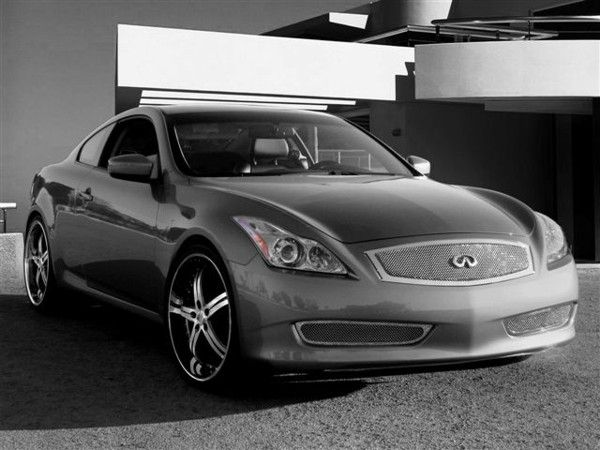 Infiniti G37 Coupe with a custom mesh grille #infiniti #coupe #g37 #custom #cars #grille #mesh #bennettinfiniti #auto #pennsylvania