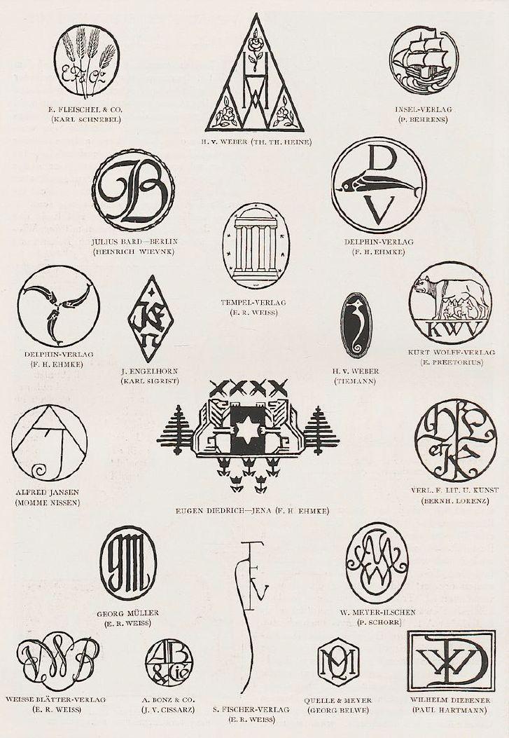 Various publishing house marks