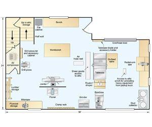 Floor Plan For Workshop Workshop Woodshop Pinterest Workshop