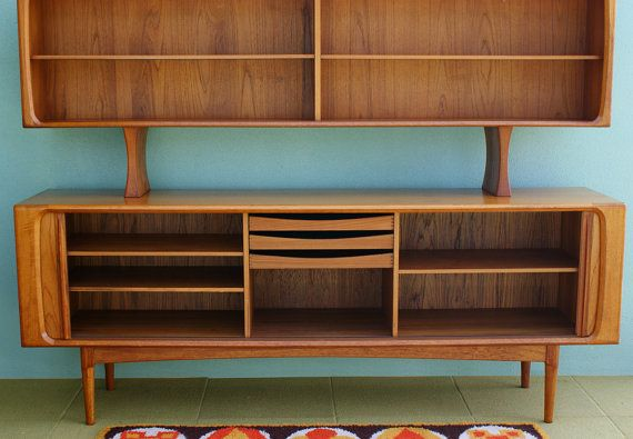 Arne Vodder Sideboard cabinet with Tambour Doors