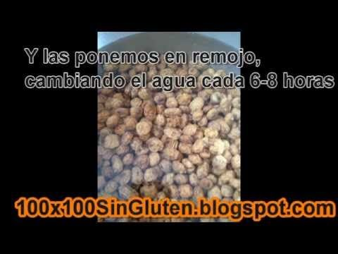 Horchata de chufa sin gluten paso a paso