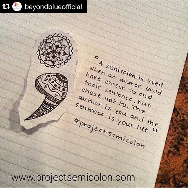 #Repost @beyondblueofficial ・・・ The semicolon; you may have seen it a lot lately…