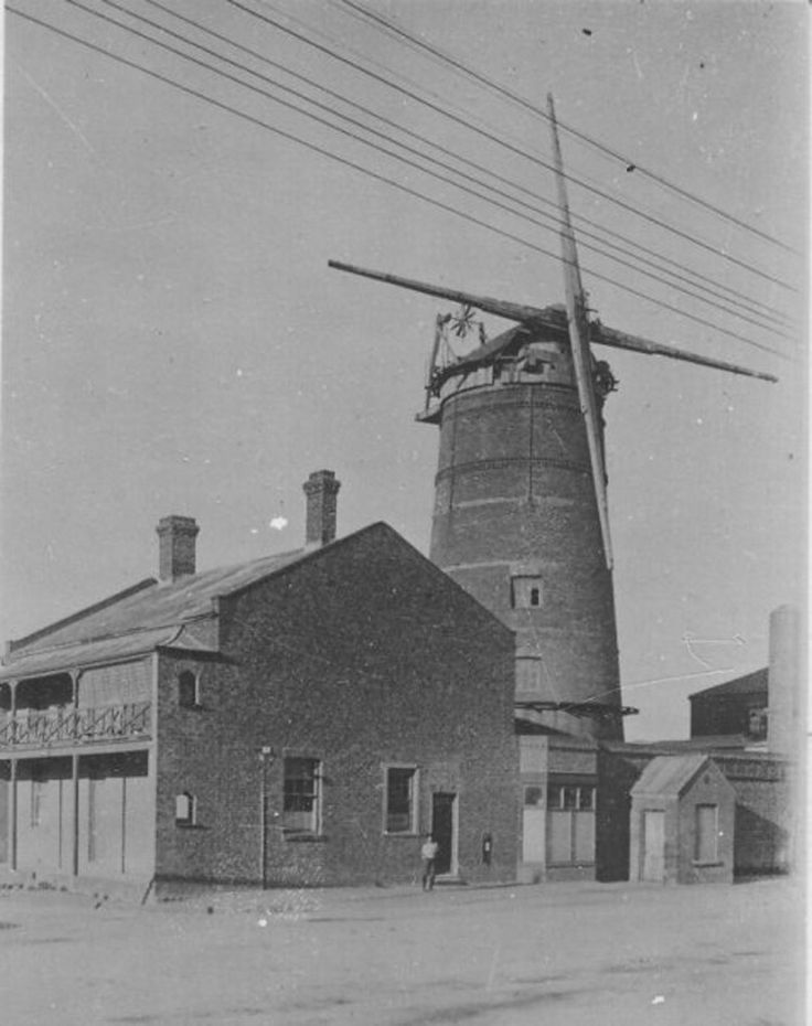 Old windmill on site of Pyott's Factory, Albert Road - now Old Biscuit Mill.