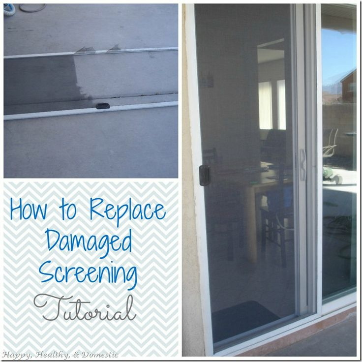 How To Replace That Damaged Screen Door Screen Or Window