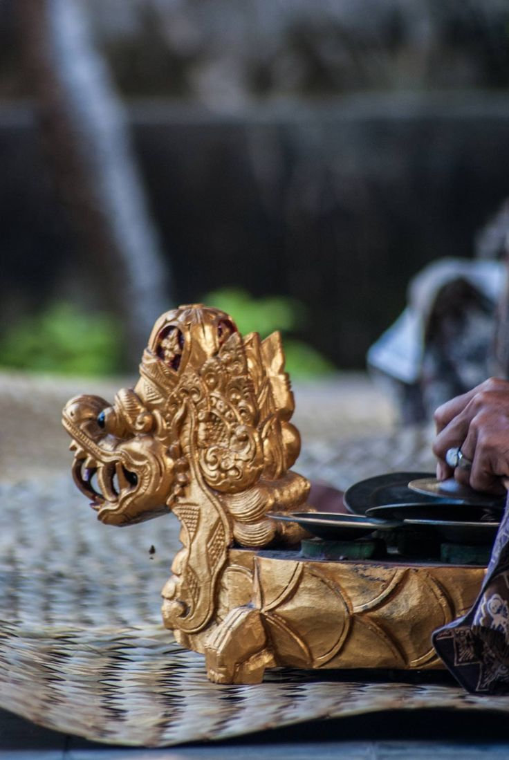 gamelan instrument-Barong dance performance