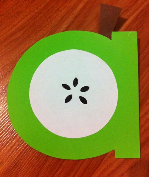 Letter A Craft. Apple Craft. Preschool ...   Crafts for the kids