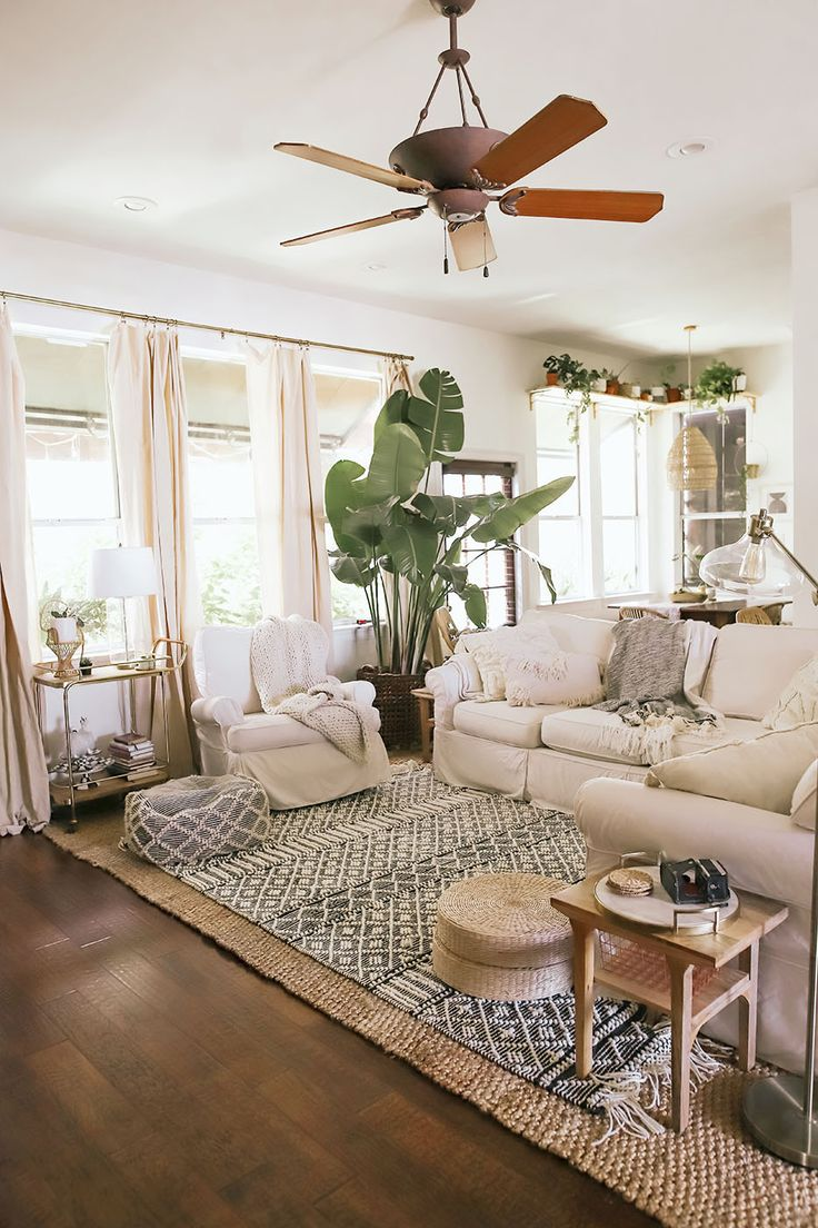 This Open Concept Space Has Perfected The Art of Boho Living Room Decor   Boho living room decor, Modern boho living room, Chic living room