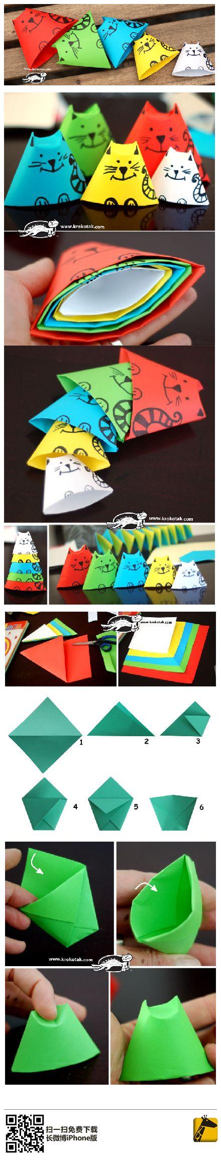Chats en papier