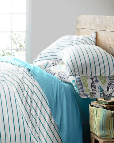 classic stripe jerseyknit bedding - Jersey Knit Sheets