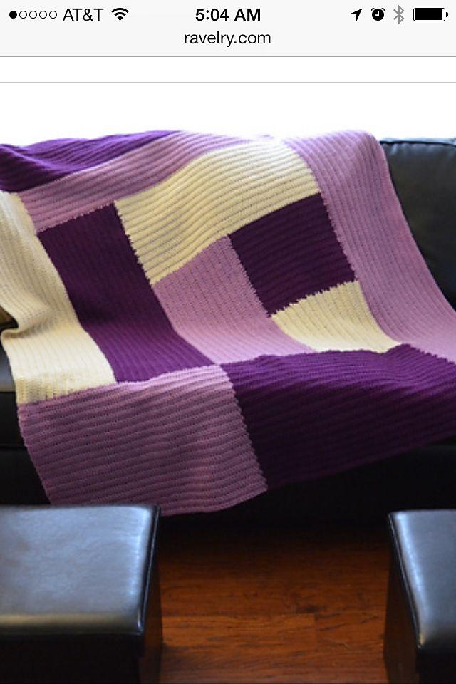 Modern Log Cabin Afghan By jkwdesigns - Free Crochet Pattern - (ravelry)