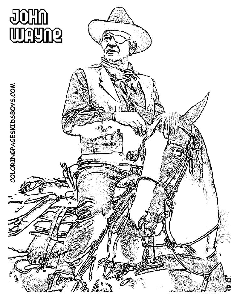 Western cowboy coloring pages ~ 72 best western color pages images on Pinterest | Coloring ...