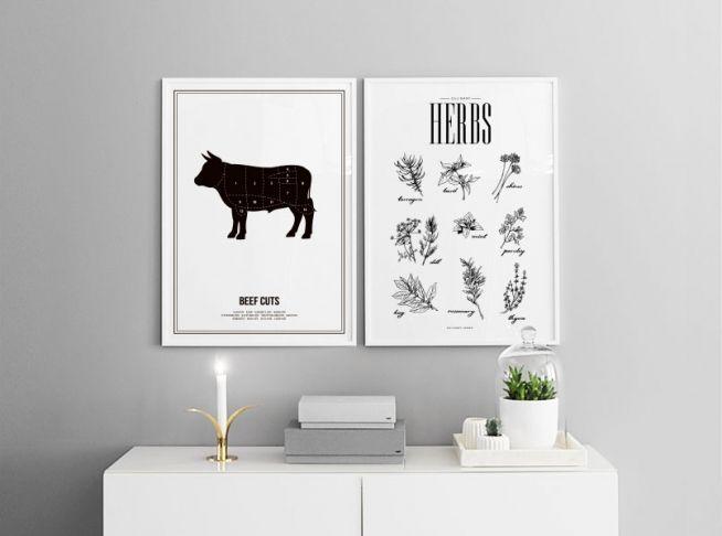 Mooie posters en prints boven het bed of de bank | Mooie posters in paren