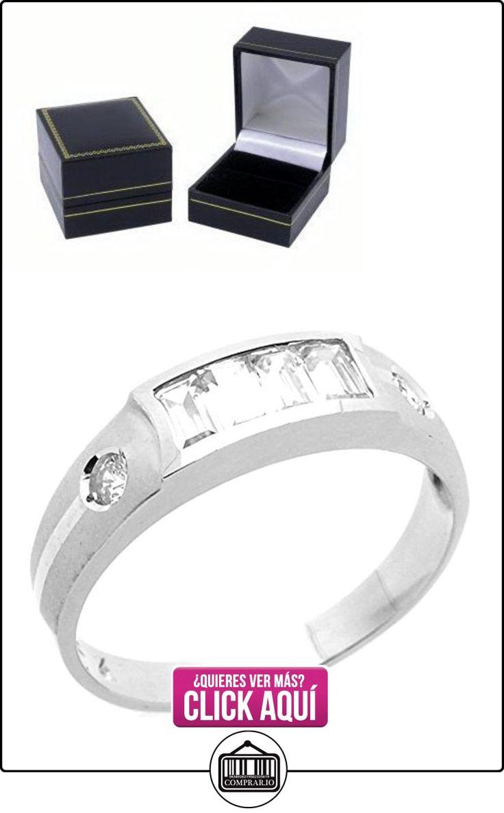 Pequeños Tesoros - Anillo de hombre - Anillo de compromiso y boda de oro 0.5ct Circonita Oro blanco  ✿ Joyas para hombres especiales - lujo ✿ ▬► Ver oferta: https://comprar.io/goto/B00BFXBBZ4