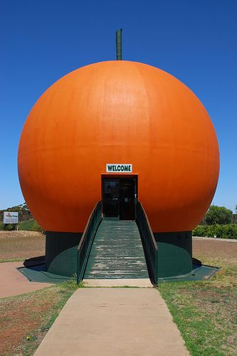 Big Orange by brettm8, via Flickr • the big orange • Berri • South Australia • aussie big things