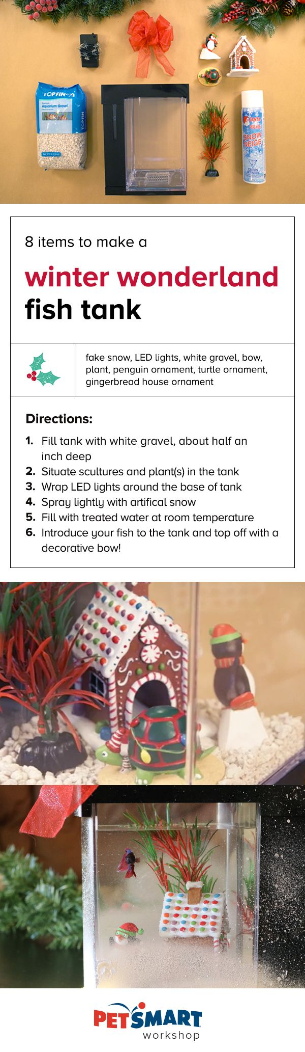 Juwel aqua clean aquarium fish tank gravel - Petsmart Workshop How To Turn Your Fish Tank Into A Winter Wonderland