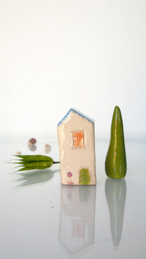 Collectible Miniature House in Stoneware Ceramic mini house, Small ceramic home, Ceramics & pottery, Tiny little houses collectibles