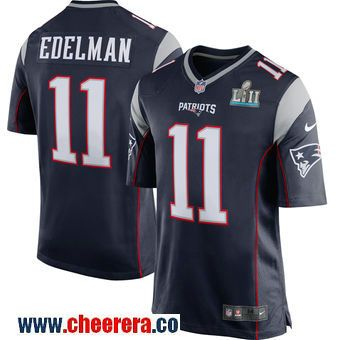 Men s New England Patriots Julian Edelman Nike Navy 2018 Super Bowl LII  Bound Game Jersey b6da7e8e5