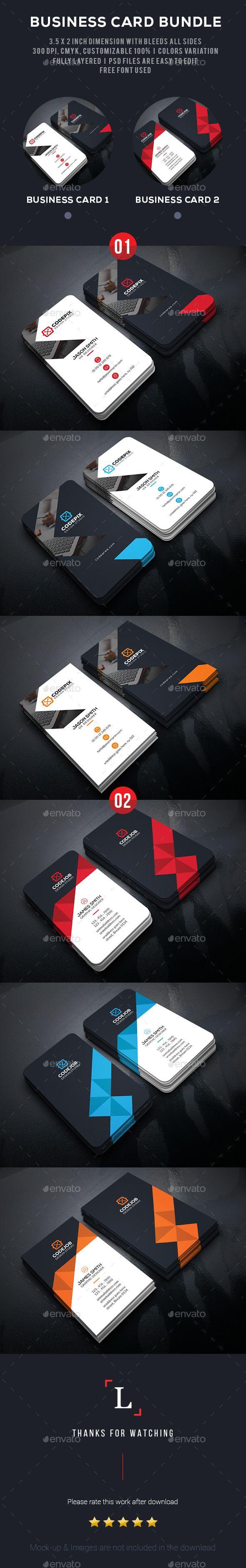 Business Card Template PSD Bundle. Download here: http://graphicriver.net/item/business-card-bundle/15592808?ref=ksioks