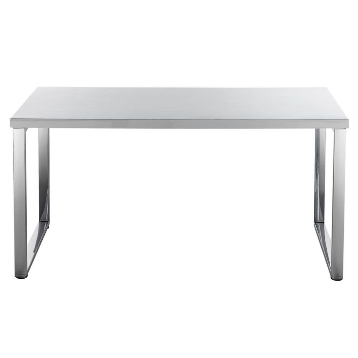 Hummingbird Contour Loop Leg Desk White and Chrome: perfect amount of space with plenty of desk area to work