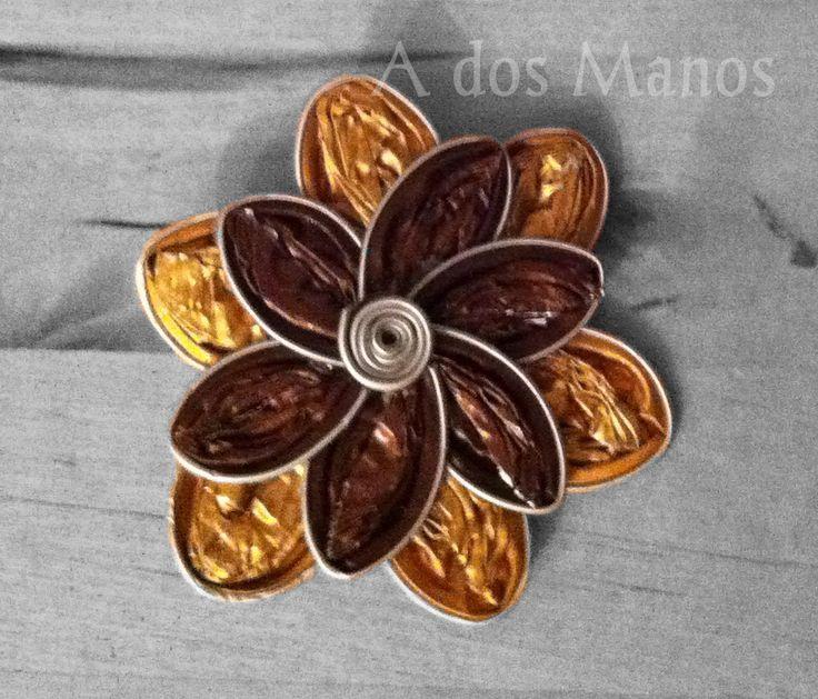 DIY Flor de cápsulas nespresso