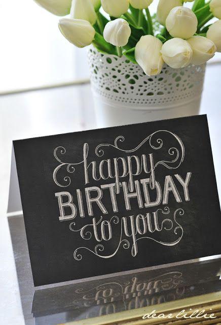 Dear Lillie: Birthday Cards and Birthday Hang Tags