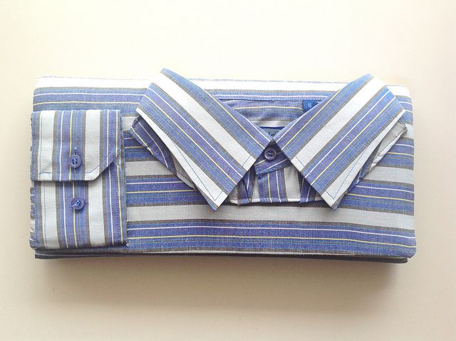 Men shirt clutch, chemise homme pochette by Vallistic, www.vallistic.gr