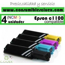 PACK 4 CARTUCHOS COMPATIBLES EPSON C1100 A ELEGIR COLOR